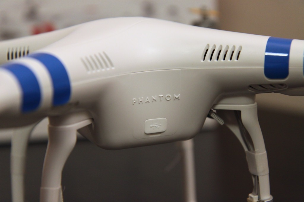 micro USB on Phantom 2 itself