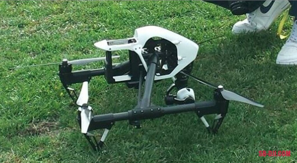 Inspire 1 on grass closeup