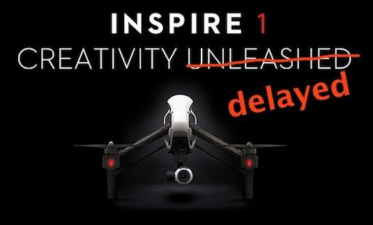 Inspire 1 delayed