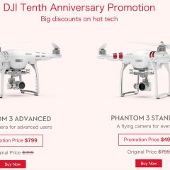 DJI 10th Anniversary – The best Phantom 3 deal ever to date