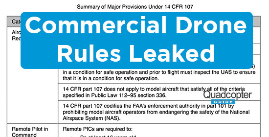 Commercial Drone Rules Part 107 – What You Need to Know