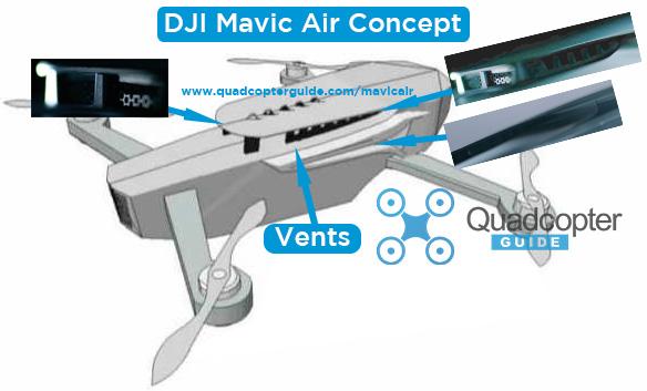 DJI Mavic Air Concept Rendering