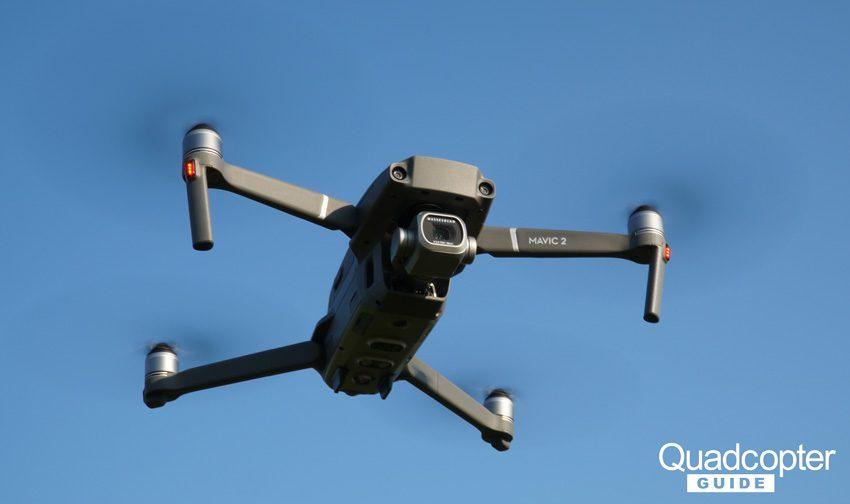 DJI Mavic 2 Pro Review - flying close up from below