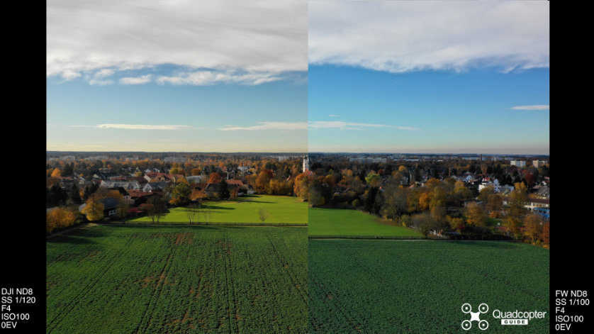 Mavic 2 ND Filter Test - DJI ND8 vs. Freewell ND8