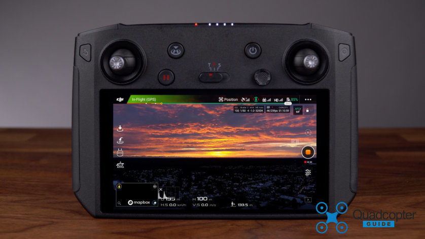 "The DJI Smart Controller featuring it's 5.5"" FullHD display"